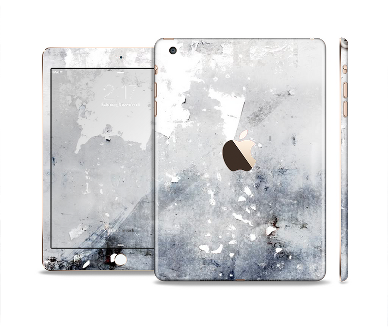 The Grunge White & Gray Texture Full Body Skin Set for the Apple iPad Mini 3