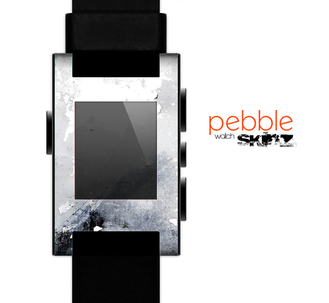 The Grunge White & Gray Texture Skin for the Pebble SmartWatch