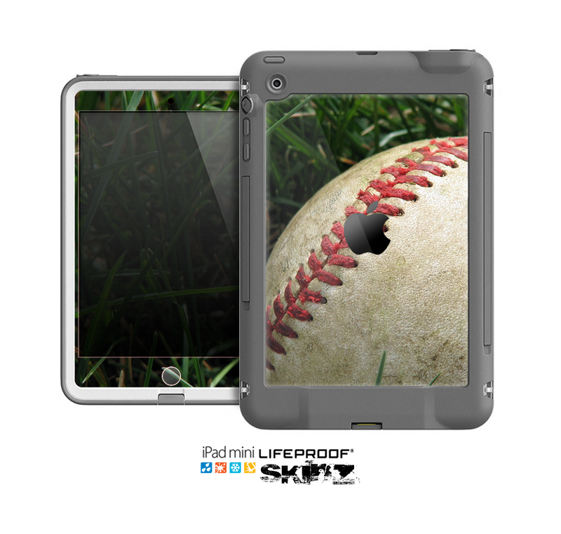 The Grunge Worn Baseball Skin for the Apple iPad Mini LifeProof Case