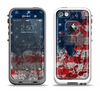 The Grungy American Flag Apple iPhone 5-5s LifeProof Fre Case Skin Set