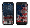 the grungy american flag  iPhone 6/6s Plus LifeProof Fre POWER Case Skin Kit