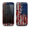 The Grungy American Flag Skin For The Samsung Galaxy S4