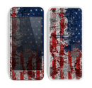 The Grungy American Flag Skin for the Apple iPhone 5c