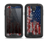 The Grungy American Flag Skin for the Samsung Galaxy S4 frē LifeProof Case
