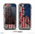 The Grungy American Flag Skin for the iPhone 5c nüüd LifeProof Case