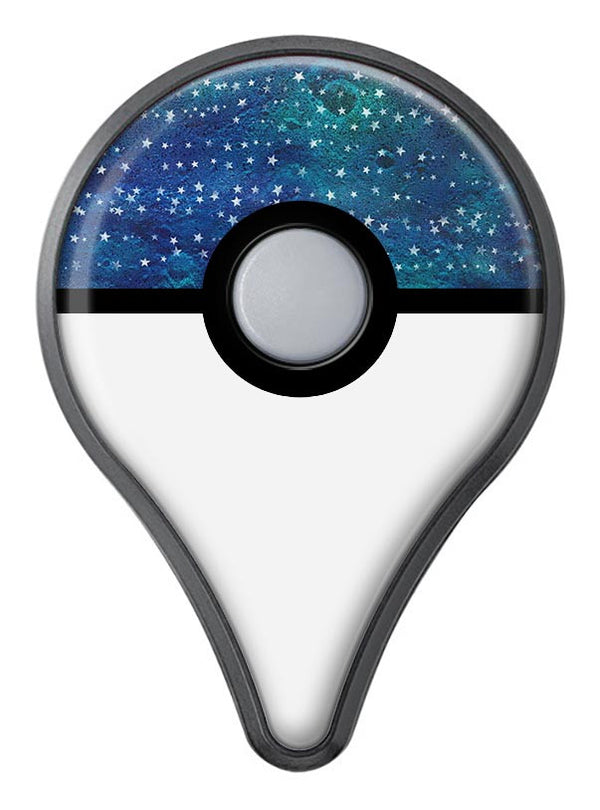 The Grungy Blue Green Stars Surface Pokémon GO Plus Vinyl Protective Decal Skin Kit