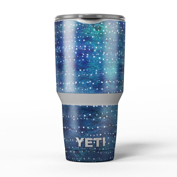 The_Grungy_Blue_Green_Stars_Surface_-_Yeti_Rambler_Skin_Kit_-_30oz_-_V5.jpg