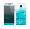 The Grungy Blue Watercolor Surface Skin For the Samsung Galaxy S5