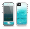 The Grungy Blue Watercolor Surface Skin for the iPhone 5-5s OtterBox Preserver WaterProof Case