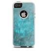 The Grungy Bright Teal Surface Skin For The iPhone 5-5s Otterbox Commuter Case