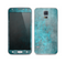 The Grungy Bright Teal Surface Skin For the Samsung Galaxy S5