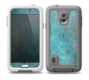 The Grungy Bright Teal Surface Skin for the Samsung Galaxy S5 frē LifeProof Case