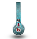 The Grungy Bright Teal Surface Skin for the Beats by Dre Mixr Headphones