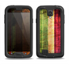 The Grungy Color Stripes Samsung Galaxy S4 LifeProof Nuud Case Skin Set