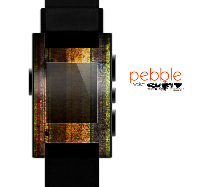 The Grungy Color Stripes Skin for the Pebble SmartWatch