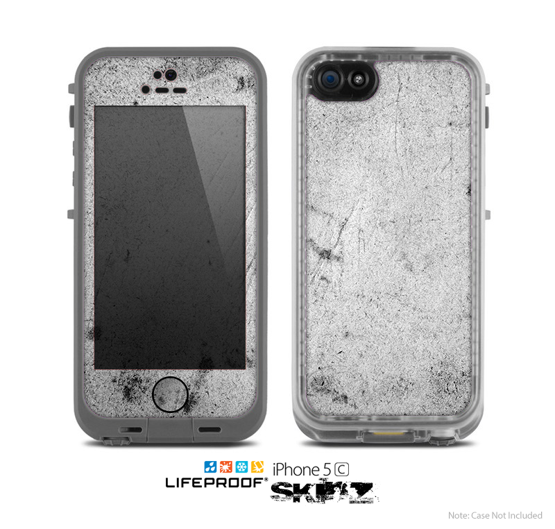 The Grungy Concrete Textured Surface Skin for the Apple iPhone 5c LifeProof Case