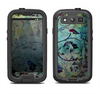 The Grungy Dark Black Branch Pattern Samsung Galaxy S4 LifeProof Nuud Case Skin Set
