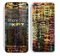 The Grungy Dark Small Tiled Skin for the Apple iPhone 5c