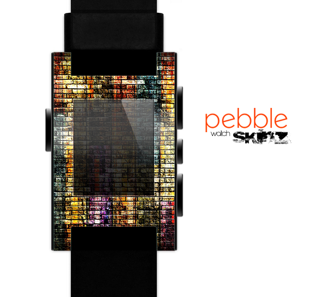The Grungy Dark Small Tiled Skin for the Pebble SmartWatch es