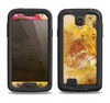 The Grungy Golden Paint Samsung Galaxy S4 LifeProof Nuud Case Skin Set