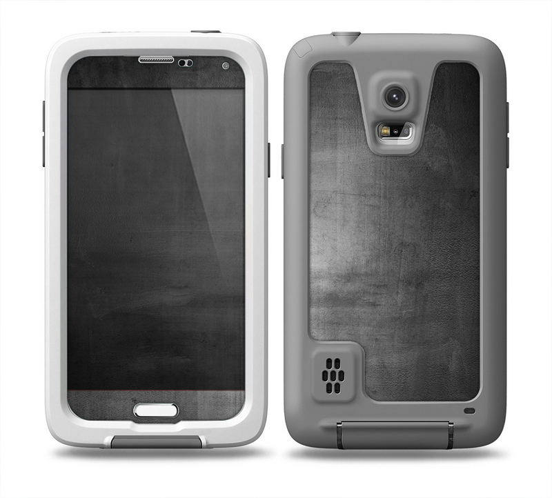 The Grungy Gray Panel Skin for the Samsung Galaxy S5 frē LifeProof Case