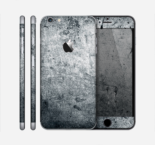 The Grungy Gray Textured Surface Skin for the Apple iPhone 6 Plus