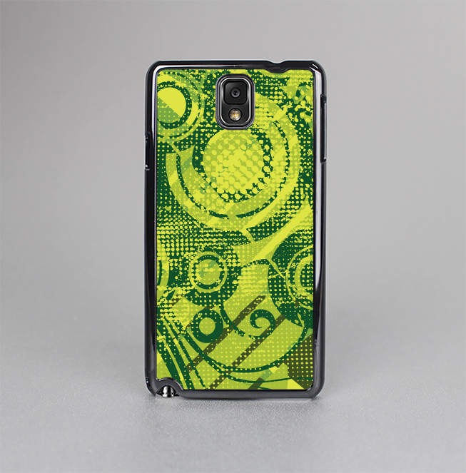 The Grungy Green Messy Pattern V2 Skin-Sert Case for the Samsung Galaxy Note 3