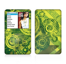 The Grungy Green Messy Pattern V2 Skin For The Apple iPod Classic