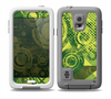 The Grungy Green Messy Pattern V2 Skin for the Samsung Galaxy S5 frē LifeProof Case