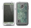The Grungy Green Painted Fabric Skin for the Samsung Galaxy S5 frē LifeProof Case