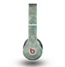 The Grungy Green Painted Fabric Skin for the Beats by Dre Original Solo-Solo HD Headphones