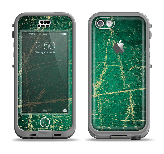 The Grungy Green Surface Design Apple iPhone 5c LifeProof Nuud Case Skin Set