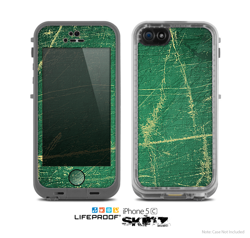 The Grungy Green Surface Design Skin for the Apple iPhone 5c LifeProof Case
