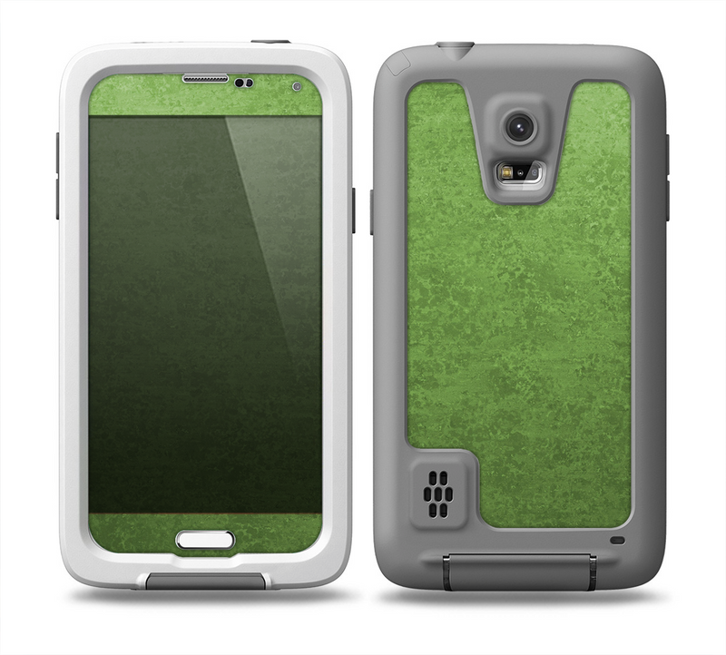 The Grungy Green Surface Skin for the Samsung Galaxy S5 frē LifeProof Case