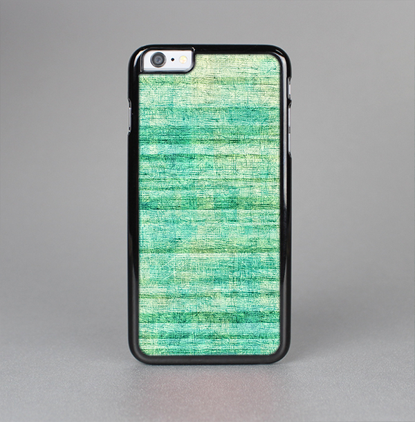 The Grungy Horizontal Green Lines Skin-Sert Case for the Apple iPhone 6 Plus