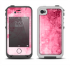 The Grungy Pink Painted Swirl Pattern Apple iPhone 4-4s LifeProof Fre Case Skin Set