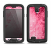 The Grungy Pink Painted Swirl Pattern Samsung Galaxy S4 LifeProof Nuud Case Skin Set