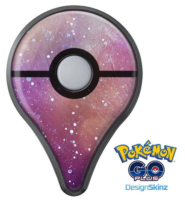The Grungy Purple and Orange Scratched Surface  Pokémon GO Plus Vinyl Protective Decal Skin Kit