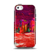 The Grungy Red Abstract Paint Apple iPhone 5c Otterbox Symmetry Case Skin Set