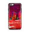 The Grungy Red Abstract Paint Apple iPhone 6 Plus Otterbox Symmetry Case Skin Set