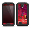 The Grungy Red Abstract Paint Samsung Galaxy S4 LifeProof Fre Case Skin Set
