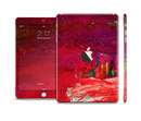 The Grungy Red Abstract Paint Full Body Skin Set for the Apple iPad Mini 3