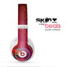 The Grungy Red Abstract Paint Skin for the Beats by Dre Studio Wireless Headphones
