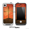 The Grungy Red Cross on a Hill Skin for the iPhone 4 or 5 LifeProof Case