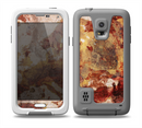 The Grungy Red Panel V3 Skin for the Samsung Galaxy S5 frē LifeProof Case