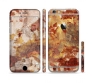The Grungy Red Panel V3 Sectioned Skin Series for the Apple iPhone 6s
