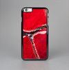 The Grungy Red Scale Texture Skin-Sert Case for the Apple iPhone 6 Plus