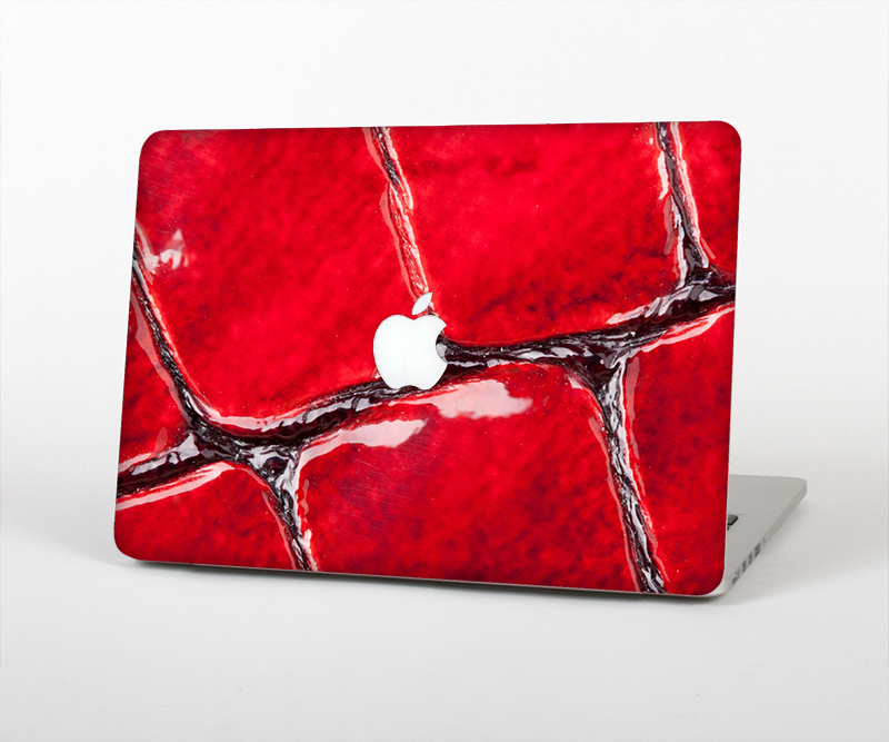 "The Grungy Red Scale Texture Skin Set for the Apple MacBook Pro 15"" with Retina Display"