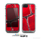 The Grungy Red Scale Texture Skin for the Apple iPhone 5c LifeProof Case