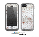 The Grungy Red & White Brick Wall Skin for the Apple iPhone 5c LifeProof Case